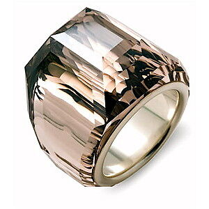 new in box signed SWAROVSKI CRYSTAL glacier silk satin ring