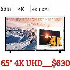 TV 4K ULTRA HD HAIER 65 pouces 4K  UHD GARANTI 2 ANS A SEULEMENT 629.99$ TV 4K ULTRA HD / TV SAMSUNG TV LG DISPONIBLES