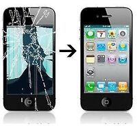 Reparation vitre brisee Iphone, Ipad