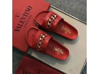 WOMENS CHAIN SANDAL SLIDDERS WITH BOX FREE POSTAGE