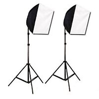Photography start up kit lights and backdrops