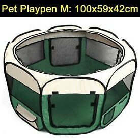 Foldable pet playpen/crate