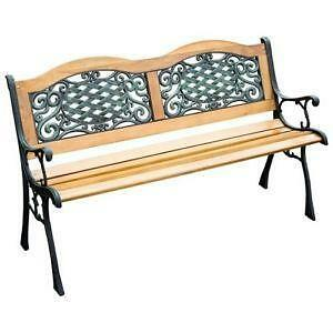 Vintage Cast Iron Bench