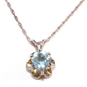 Aquamarine necklace ebay sterling silver aquamarine necklace aloadofball Image collections