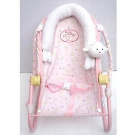 Baby Annabell adjustable chair with carry handles.