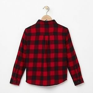 Roots Like new red and black flannel checkered button up