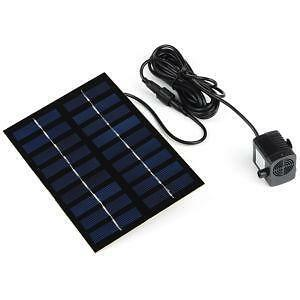 Pond pumps solar submersible air and external ebay for Solar water filter for ponds