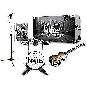 Beatles rock band set for WII! Drums/Game/microphone/guitar