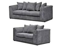 Jumbo cord corner sofas grey always in stock