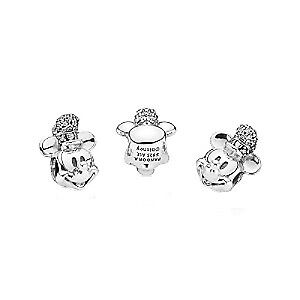 Pandora Sterling Silver Disney Steamboat Willie Clear CZ Charm