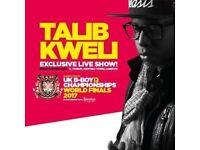 UK B-BOY CHAMPIONSHIPS-WORLD FINALS 2017 + TALIB KWELI