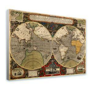 World map poster ebay antique world map posters gumiabroncs Choice Image