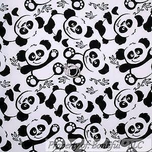 Panda Bear Fabric Ebay