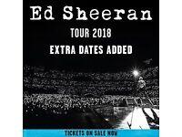 Ed Sheran tickets x2