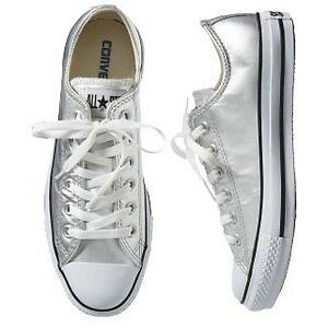 Silver converse size 6.5 worn once