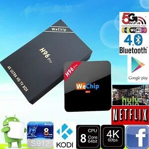 Wechip H96 PRO Amlogic S912 Octa Core Android 6.0 Smart TV Box
