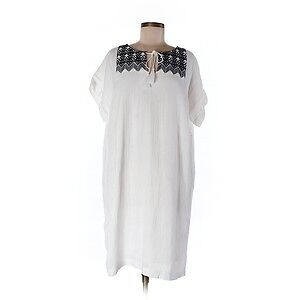 Women Old Navy white cotton embroidered shift dress Size XL NWT London Ontario image 8