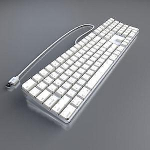 A1048 - Apple White Wired USB Keyboard.