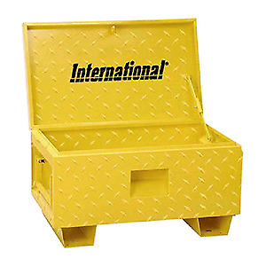 Small job box - yellow checkerplated - International