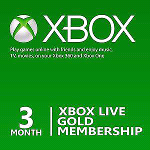 Xbox Live Gold 3 Month Membership Code