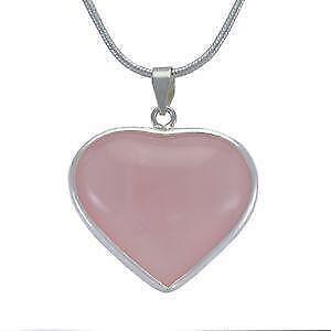 Rose quartz pendant ebay rose quartz heart pendants aloadofball Choice Image