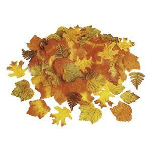 250 THANKSGIVING Fall Autumn Decorative Fabric Craft Table Scatters LEAVES