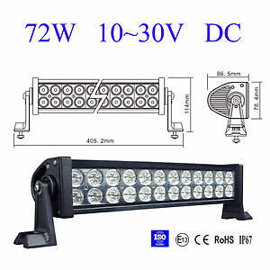 """HOT SALE! 12"""" 72W Spot LED LIGHT BAR With Relay Hardness"""