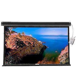 Motorized Projector Screen Black Ebay