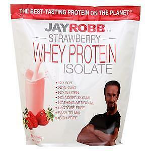 Jay Robb - Whey Protein Isolate Powder Strawberry - 80 oz.