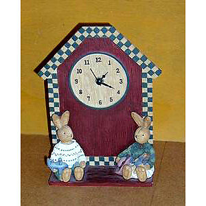 Clock from Country Bunnies Collection:LikeNEW:smoke Free