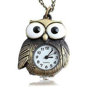 Owl necklace ebay owl watch necklaces mozeypictures Images