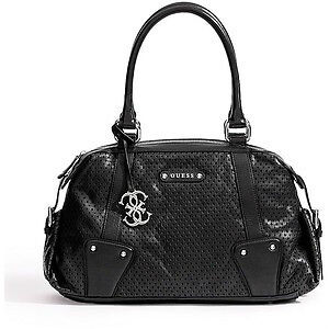 Perforated Black GUESS purse hardly used once perfect condition