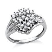 White Gold Diamond Cluster Ring