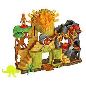 Fisher Price Imaginex Dino Fortress and Moving Dino