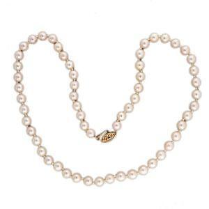 Vintage pearl necklace ebay vintage akoya pearl necklace mozeypictures Images