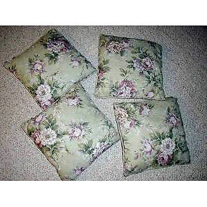 3 sets of Cushions : 12 Cushions in all : Clean,SmokeFree ..LOOK