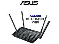 ASUS DSL-AC55U AC1200 Dual Band WiFi ADSL/VDSL Modem Router-used