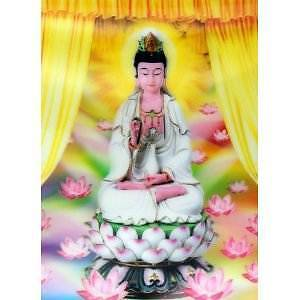 Lotus Flowers And Buddha 3D Lenticular High Definition Picture 40x30 cm New