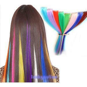 Colored Clip In Hair Extensions Ebay