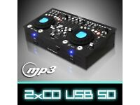IBIZA PROFFESSIONAL DJ CD/USB/SD DECKS BOXED CAN DELIVER