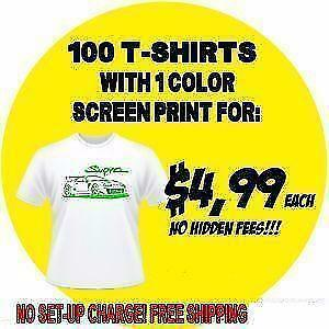 Wholesale Custom Printed T-shirts - 24 Shirt Minimum