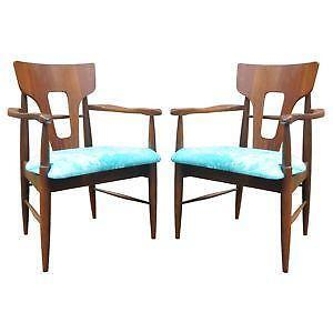 Mid Century Walnut Dining Chairs