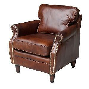 leather club chair | ebay