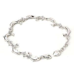 Sterling Silver Dolphin Bracelet