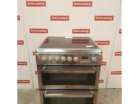 60cm double oven stainless steel ceramic top hotpoint electric cooker #7120