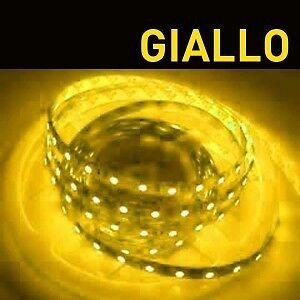 Striscia led giallo 30cm 12 smd 5050 12v alta luminosit for Striscia led adesiva