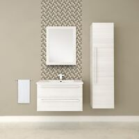 "30"" SILHOUETTE - WHITE CHOCOLATE - SINGLE SINK WALL-HUNG BATHROO"