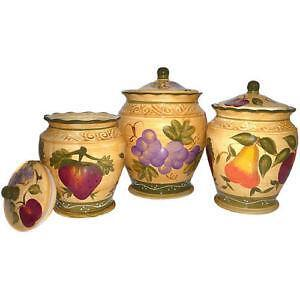 tuscan style kitchen canister sets tuscan kitchen canisters ebay 4924