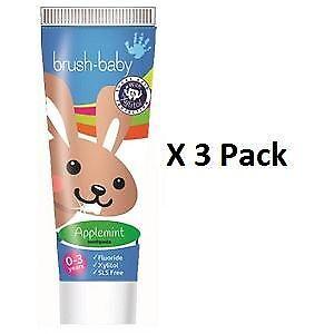 Brush-Baby Applemint Children's Toothpaste 0-3 years 50ml x 3 Pack