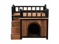 Solid Wood Dog House - Brand New